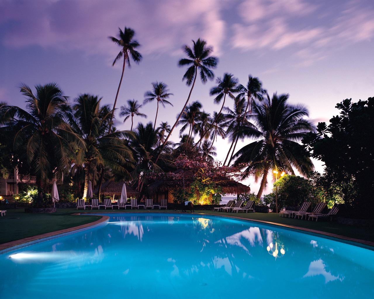 Bazén pod palmami
